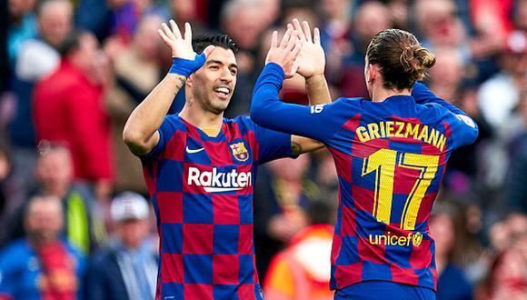 Luis Suárez y Antoine Griezmann juegan juntos en el Barcelona desde inicios de temporada. (Getty)