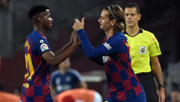 """Griezmann se solidarizó con Ansu Fati tras polémica crónica: """"Es un chico excepcional que merece respeto. No al racismo"""". (Barcelona)"""