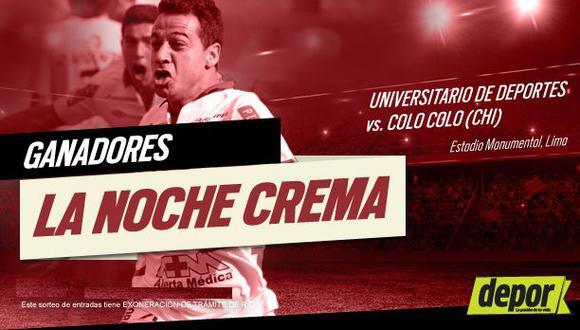 Universitario de Deportes: ganadores de las entradas dobles para la Noche Crema