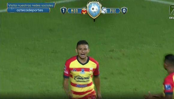 El gol de Sansores a los 30 segundos en el Morelia vs. Puebla. (TV Azteca)