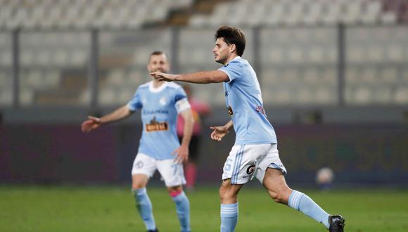 Merlo anotó el descuento en el Cristal vs. Peñarol. (Foto: EFE)