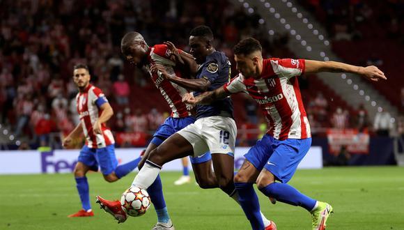 Atlético de Madrid y Porto igualaron sin goles por la Champions League. (Foto: EFE)