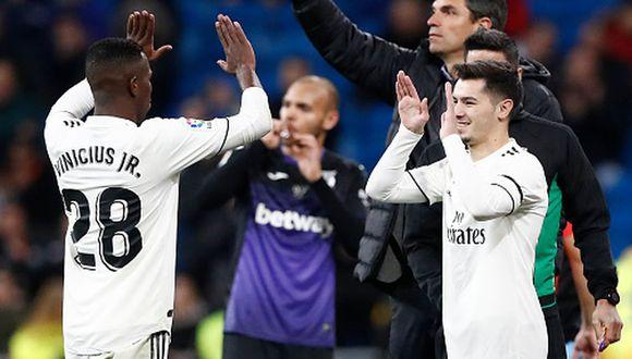 Brahim y Vinicius llegaron al Real Madrid la temporada pasada. (Getty)