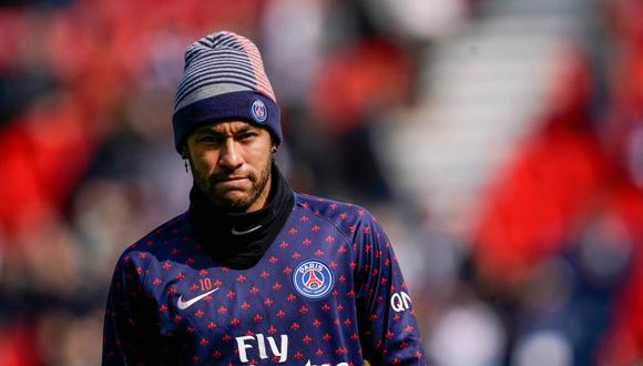 Neymar no estuvo en el entrenamiento de PSG este jueves. (Foto: AFP)