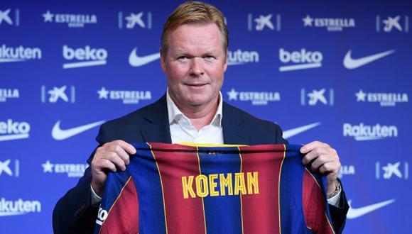 Ronald Koeman firmó como técnico del FC Barcelona por las próximas dos temporadas. (Foto: AFP)