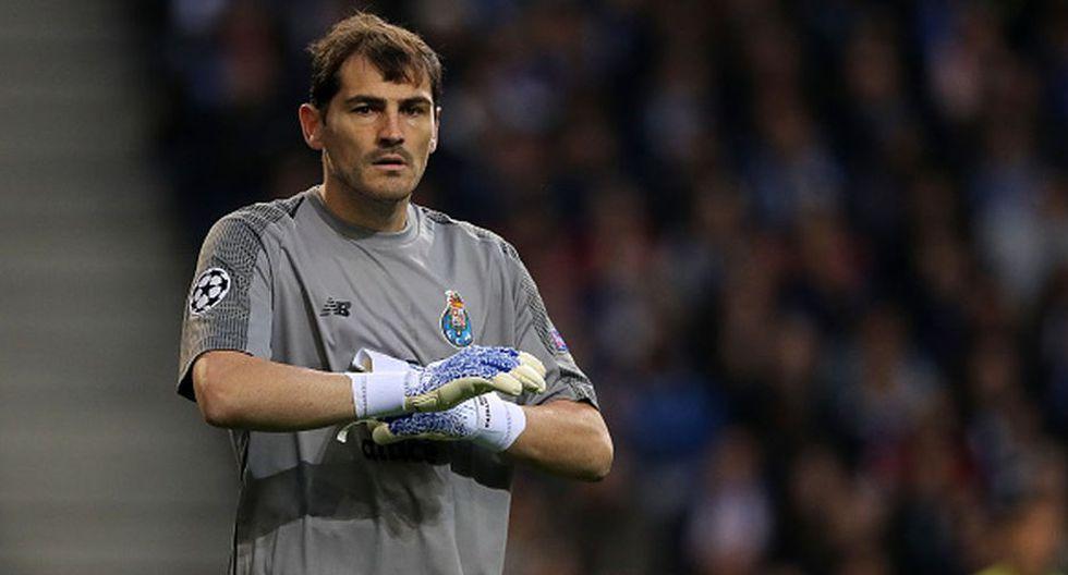 Iker Casillas, a los 37 años, le pone fin a la temporada 2018-19. (Getty)