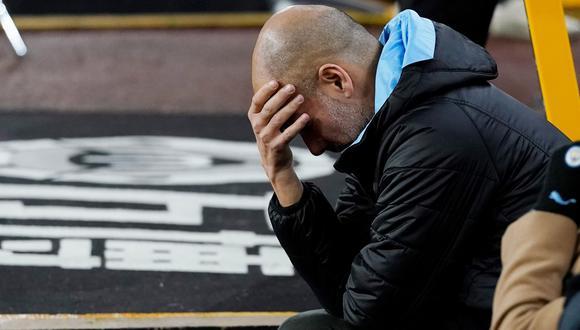 Guardiola durante el duelo entre Manchester City vs. Wolverhampton por la Premier League. (Foto: AFP)