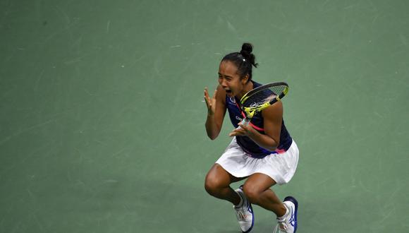 Leylah Fernández está en la final del US Open 2021. (Foto: AFP)