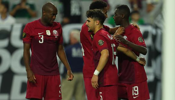El Salvador vs. Qatar jugaron por los cuartos de final de la Copa Oro 2021 este sábado (Foto: Getty Images)