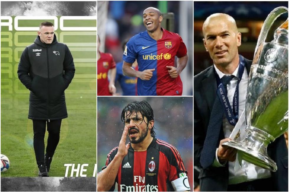 Las estrellas del fútbol que ahora son entrenadores.