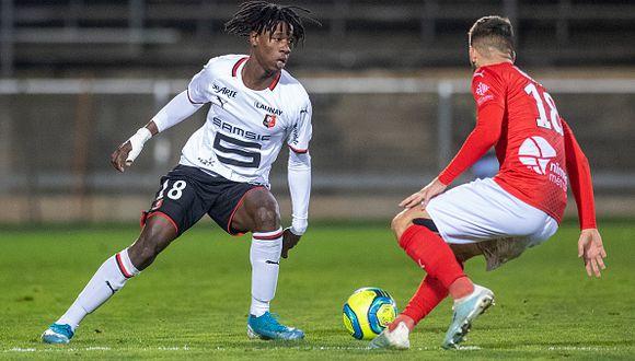 Camavinga tiene 17 años y ya disputó 24 partidos en su primera temporada. (Getty)