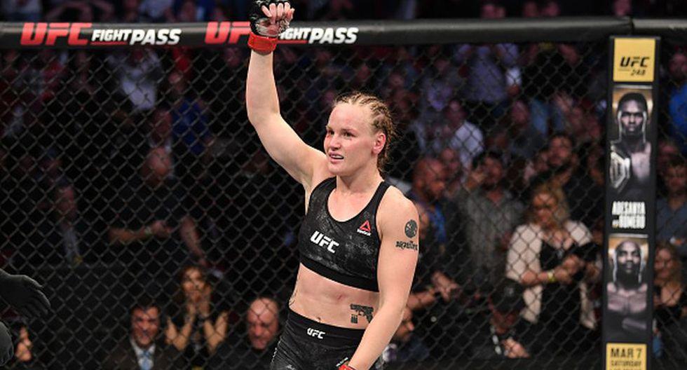 Valentina Shevchenko volvería a defender el título de peso mosca el 6 de junio en el UFC 251. (Getty Images)
