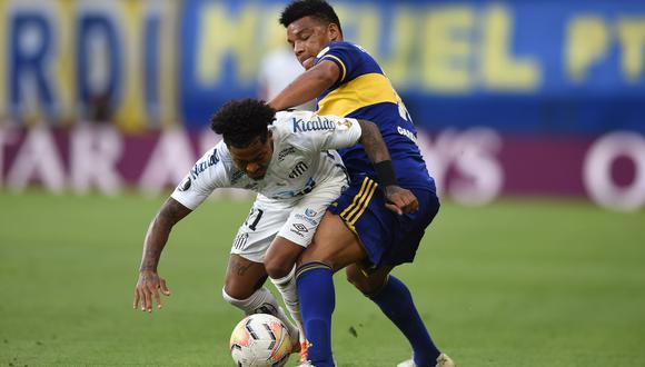 Boca y Santos empataron sin goles en la semifinal de ida de la Copa Libertadores. (Twitter)