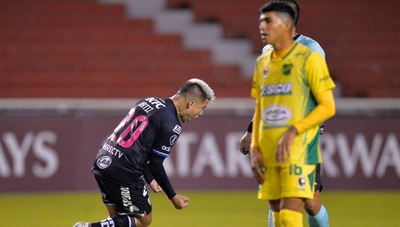 Independiente del Valle y Defensa y Justicia empataron 1-1 en el inicio del Grupo A de la Copa Libertadores. (AFP)