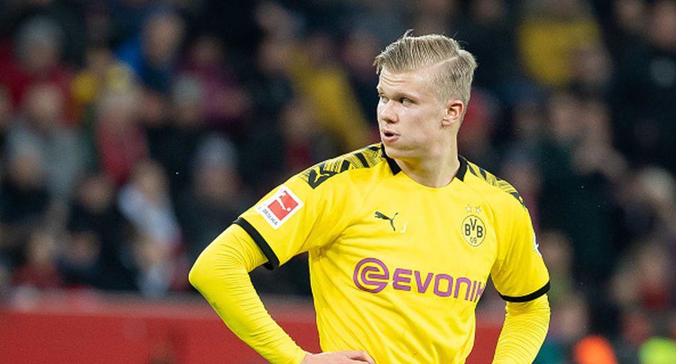 Erling Haaland lleva ocho tantos en los cinco encuentros que lleva con el Dortmund. (Getty)
