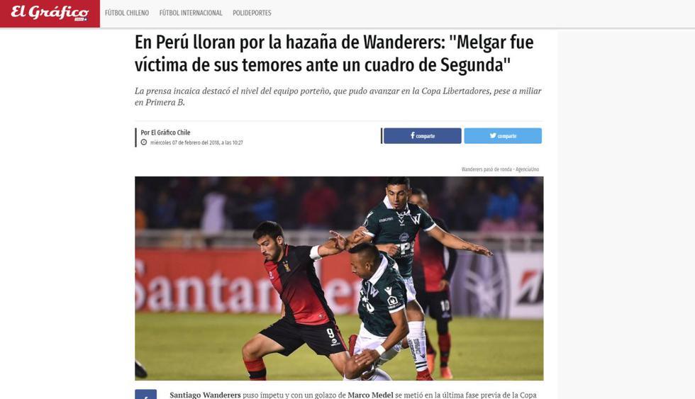 Copa Libertadores: la reacción de la prensa chilena tras la eliminación de Melgar en Arequipa