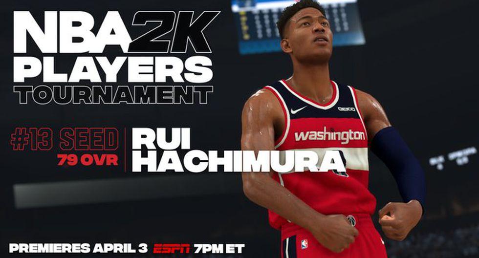 Rui Hachimura. (Foto: Twitter @NBA2K)