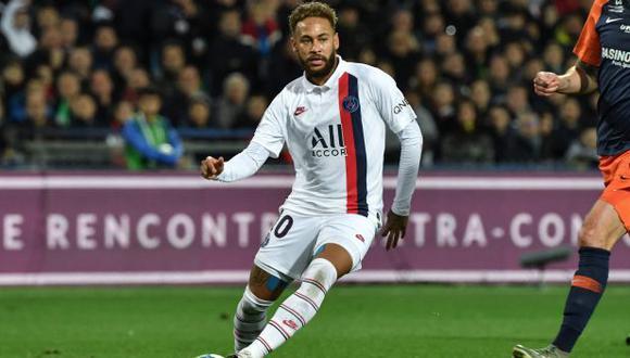 Neymar marcó ante Montpellier su sexto gol en la temporada de la Ligue 1. (Foto: AFP)