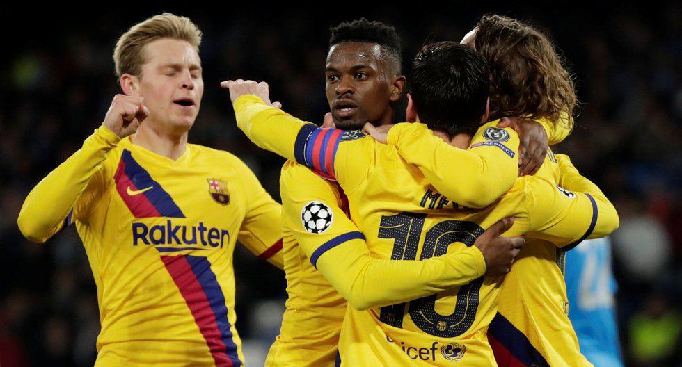 Griezmann anotó el 1-1 en el Barcelona vs. Napoli por la Champions League. (AFP)