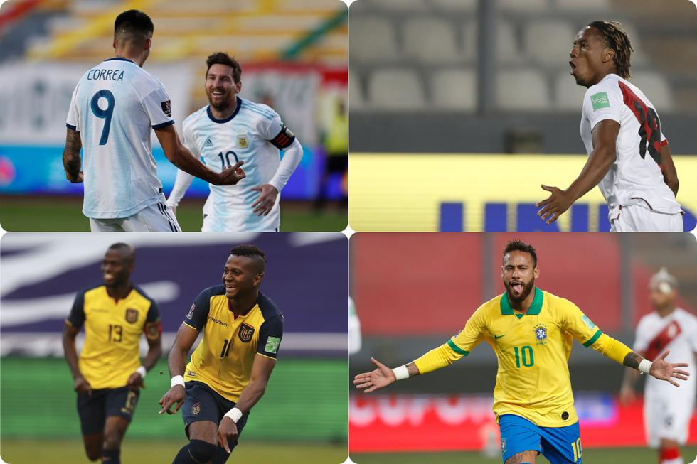 Así va la tabla de goleadores de las Eliminatorias Conmebol Qatar 2022.