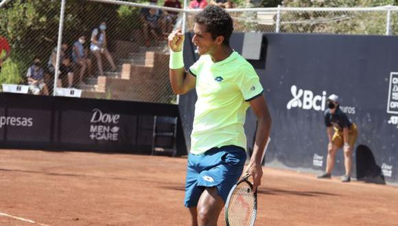 Juan Pablo Varillas debutó con victoria en el Challenger de Santiago. (Chile Open)