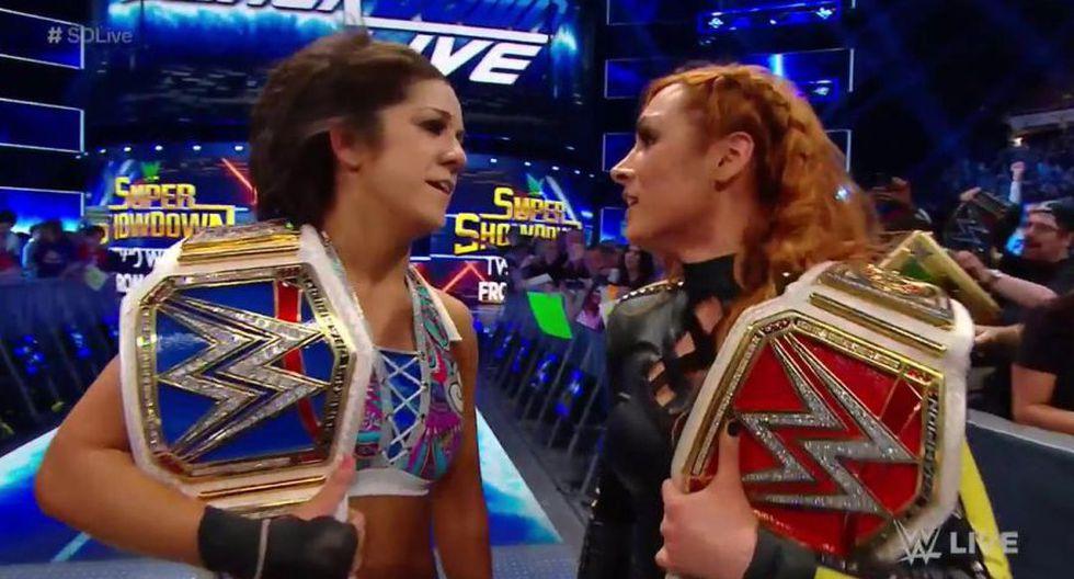 Becky Lynch y Bayley vencieron a Lacey Evans y Charlotte Flair. (WWE)