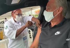 Tite ya está vacunado contra el COVID-19: el entrenador de Brasil recibió la primera dosis