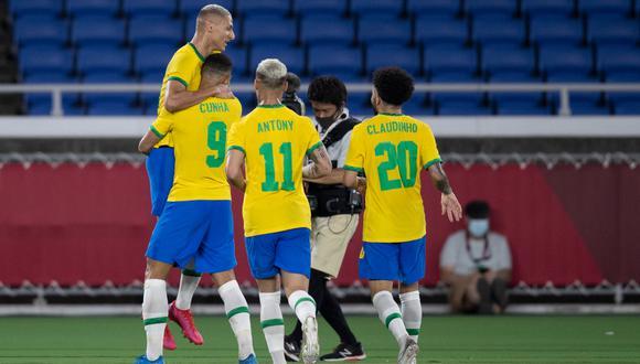 Brasil venció a Alemania con Hat-Trick de Richarlison en la fecha 1 de los Juegos Olímpicos Tokio 2020 | Foto: @cbf_futebol