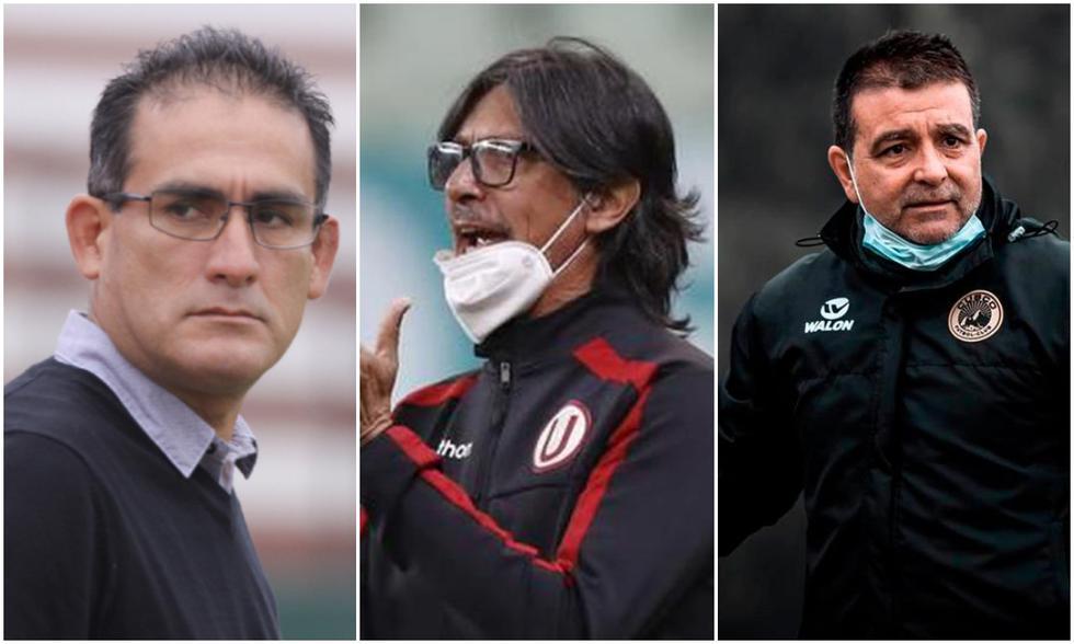 Cardama, Comizzo y Vivas fueron los últimos entrenadores que dejaron su cargo en la Liga 1. (Fotos: Agencias)