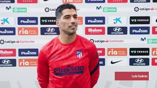 Luis Suárez se muestra encantado con su debut goleador con el Atlético