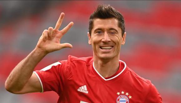 Robert Lewandowski marcó 41 goles en la última Bundesliga que ganó el Bayern Munich. (Getty Images)