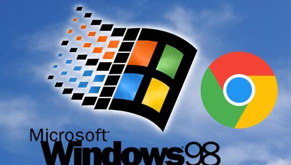 ¿Sabías que es posible utilizar Windows 98 desde Google Chrome? no necesitas instalar programas o aplicaciones adicionales solo tener acceso a Internet (Foto: Mag)