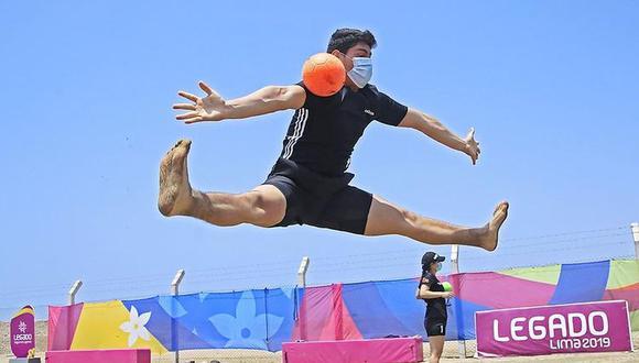 El handball es la sexta disciplina que entrena en esta moderna sede tras el reinicio de las actividades deportivas en el país.