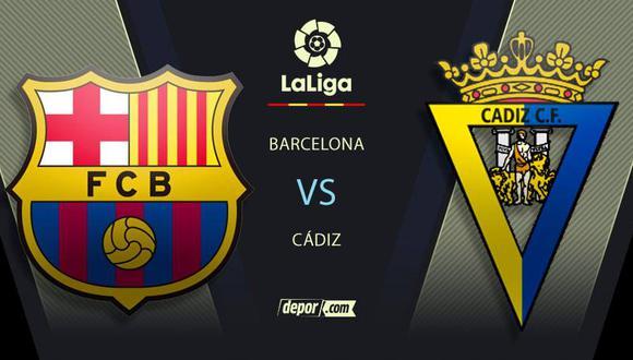 MIRA AQUÍ Barcelona vs.  Cádiz EN VIVO: horarios y canales de LaLiga