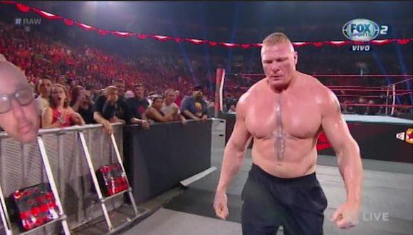 Brock Lesnar se hizo presente en Raw. (Foto: WWE)