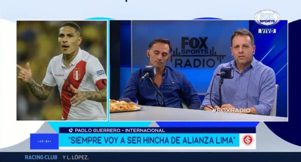 Paolo Guerrero confesó nuevamente su hinchaje por Alianza Lima. (Captura y video: Fox Sports)