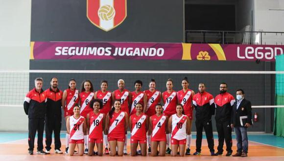 Selección peruana de vóley enfrentará a Brasil en su debut en el Sudamericano Femenino 2021. (FPV)