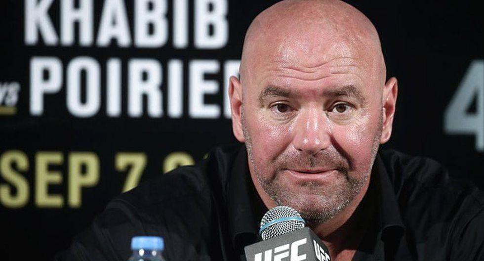 """Dana White se tiene fe: """"UFC volverá,  antes que cualquier otro deporte tras el coronavirus"""". (Getty Images)"""