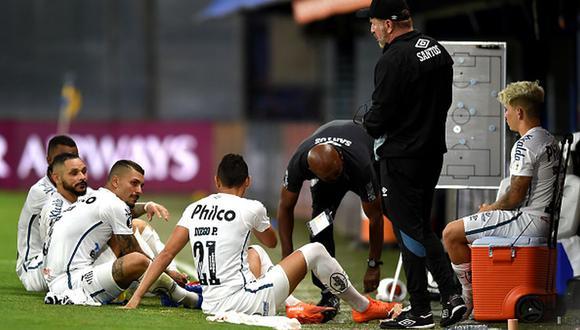 Boca y Santos empataron sin goles en la primera semifinal de Copa Libertadores 2020. (Getty)