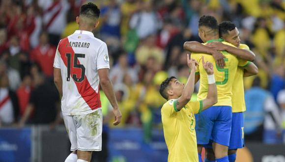 Perú acabó con la frente en alto a pesar de perder por 3-1 ante Brasil en la final de la Copa América 2019 con goles de Everton, Gabriel Jesús y Richarlison de penal. Paolo Guerrero descontó para la Blanquirroja. (Foto: AFP)
