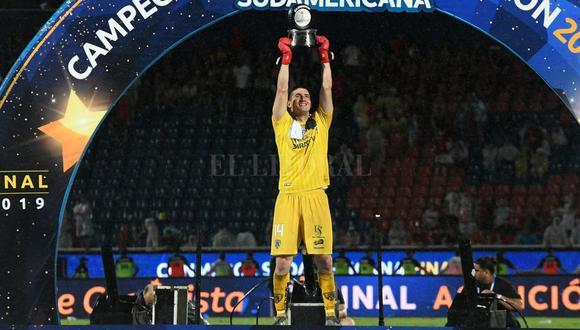 Jorge Pinos fue elegido como el mejor jugador de la final entre Independiente del Valle ante Colon por la Copa Sudamericana 2020. (Foto: Agencia)