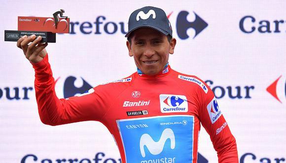 El colombiano Nairo Quintana con el maillot rojo. (Foto: Getty Images)