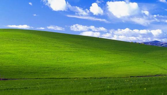 Esta es la fotografía captada por Charles O'Rear en 1996 y que Microsoft utiliza en su fondo de pantalla de Windows XP. | Foto: Microsoft