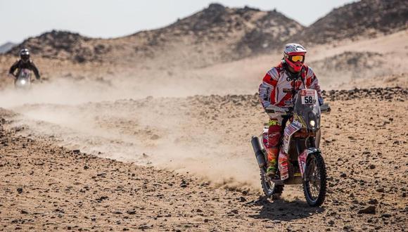 Así les fue a los peruanos en la Etapa 4 del Dakar 2020. (Foto: Dakar)