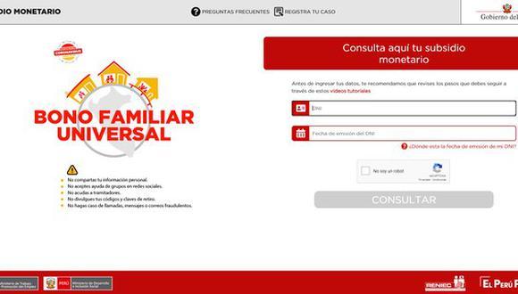Bono Universal 760 soles: conoce todos los detalles del subsidio que otorga el Gobierno peruano