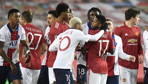 Manchester United vs PSG juegan por la Champions League. (Foto: AFP)