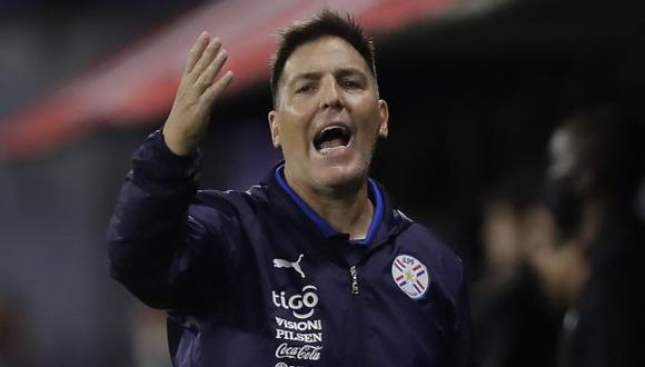 Eduardo Berizzo todavía no ha podido ganarle a Perú con Paraguay. (Foto: AFP)
