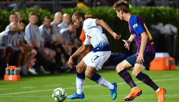 Lucas Moura arribó a Tottenham en enero del 2018. (AFP)