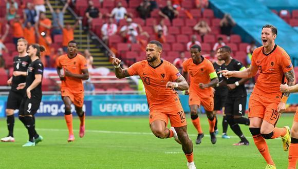 Memphis Depay anotó el primer gol para Países Bajos ante Austria. (Foto: Euro 2020)