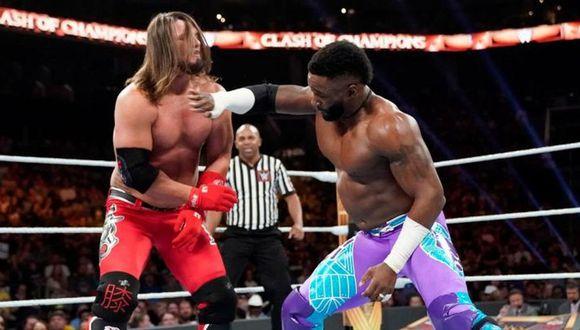 AJ Styles peleando contra Cedric Alexander por el título de los Estados Unidos. (Foto: WWE)